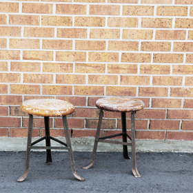 The Perfect Table - wood stool farm accent rental