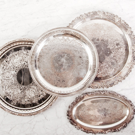 The Perfect Table - Silver Serving Tray Rental